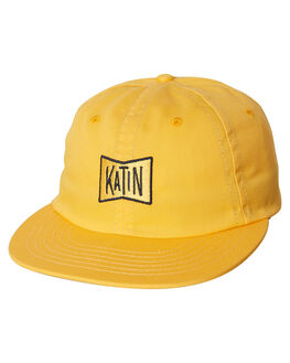 YELLOW MENS ACCESSORIES KATIN HEADWEAR - HTGRU01YEL