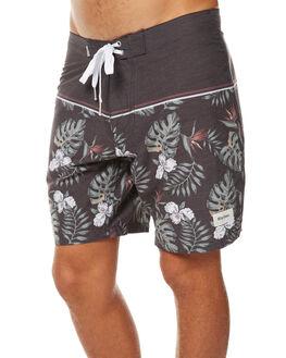 BLACK MENS CLOTHING RHYTHM BOARDSHORTS - JUL17-TR10-BLK
