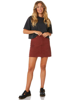 BLOOD RED WOMENS CLOTHING THRILLS SKIRTS - WTA9-322HBRED