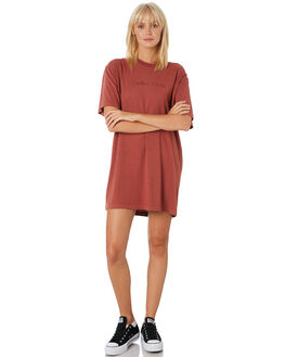 FADED RED WOMENS CLOTHING THRILLS DRESSES - WTH9-909HRED