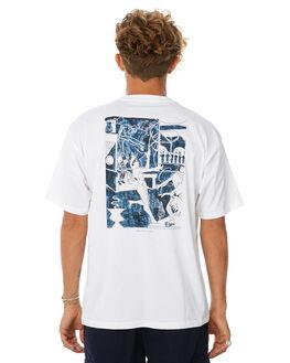 WHITE MENS CLOTHING POLAR SKATE CO. TEES - STAGE3WHT