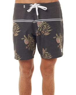 BLACK MENS CLOTHING RHYTHM BOARDSHORTS - DEC17M-SS01BLK