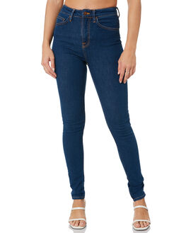 LIGHT NAVY WOMENS CLOTHING NUDIE JEANS CO JEANS - 113263LTNV