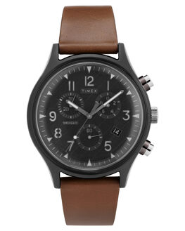 BROWN MENS ACCESSORIES TIMEX WATCHES - TW2T29600BRN