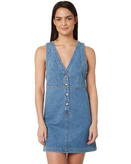 LAKES BLUE WOMENS CLOTHING WRANGLER DRESSES - W-951358-KK9