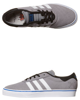 GREY WHITE MENS FOOTWEAR ADIDAS ORIGINALS SKATE SHOES - BY3953GRY