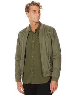 BURNT OLIVE MENS CLOTHING RVCA JACKETS - R371434OLV
