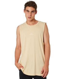 CLAY MENS CLOTHING RVCA SINGLETS - R181012CLAY