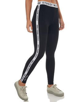 BLACK WOMENS CLOTHING STUSSY PANTS - ST172609BLK