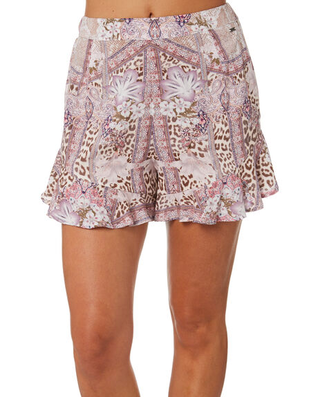 LEOPARD PATCHWORK WOMENS CLOTHING O'NEILL SHORTS - 6421705LEO