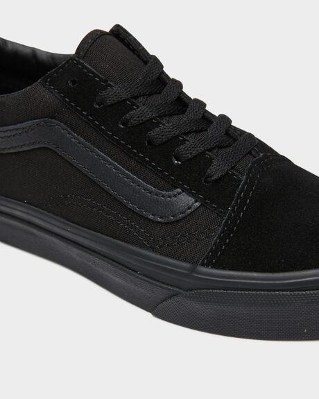 BLACK KIDS BOYS VANS SNEAKERS - VN-0W9TENRBLK