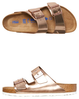 METALLIC COPPER WOMENS FOOTWEAR BIRKENSTOCK FASHION SANDALS - 952091METC