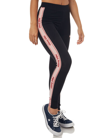 BLACK WOMENS CLOTHING STUSSY ACTIVEWEAR - ST173615BLK