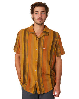 MUSTARD MENS CLOTHING STUSSY SHIRTS - ST093410MUST