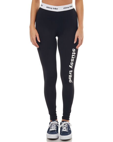 BLACK WOMENS CLOTHING STUSSY ACTIVEWEAR - ST172A02BLK