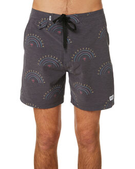 DIRTY BLACK MENS CLOTHING BANKS BOARDSHORTS - BS0196DBL