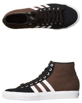 BLACK WHITE BROWN MENS FOOTWEAR ADIDAS ORIGINALS SKATE SHOES - BB8590BLK