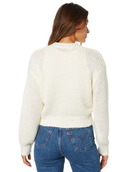 OFF WHITE WOMENS CLOTHING LULU AND ROSE KNITS + CARDIGANS - LU23931OWHT
