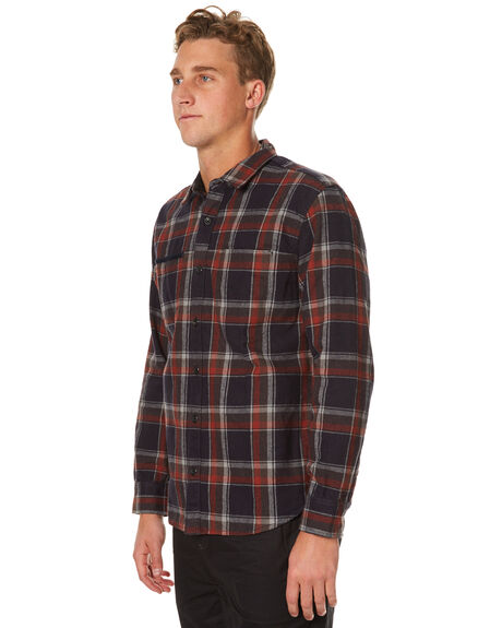 NAVY MENS CLOTHING OURCASTE SHIRTS - W1035NVY