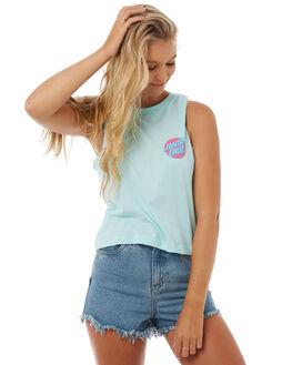 MINTY WOMENS CLOTHING SANTA CRUZ SINGLETS - SC-WTA8513MINT