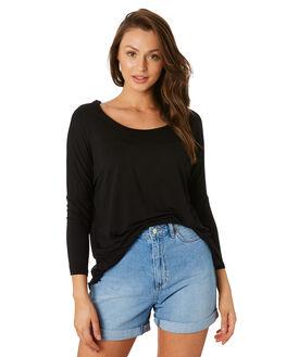 BLACK WOMENS CLOTHING BETTY BASICS TEES - BB522-BLK