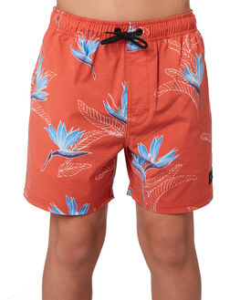 RED KIDS BOYS RIP CURL BOARDSHORTS - KBOUU10040
