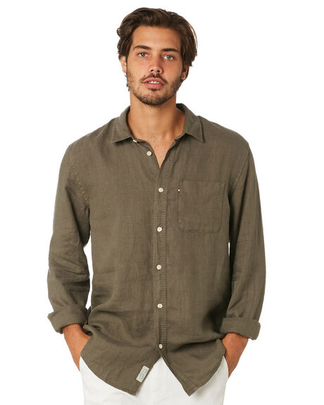 OLIVE MENS CLOTHING ACADEMY BRAND SHIRTS - BA801ARMY