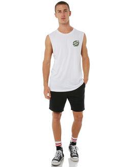 WHITE MENS CLOTHING SANTA CRUZ SINGLETS - SC-MTA8754WHT