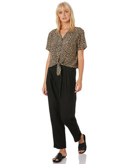 WASHED BLACK WOMENS CLOTHING THRILLS PANTS - WTH9-400BBLACK