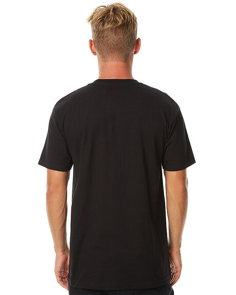 BLACK WHITE MENS CLOTHING VANS TEES - VN-0GGGY28
