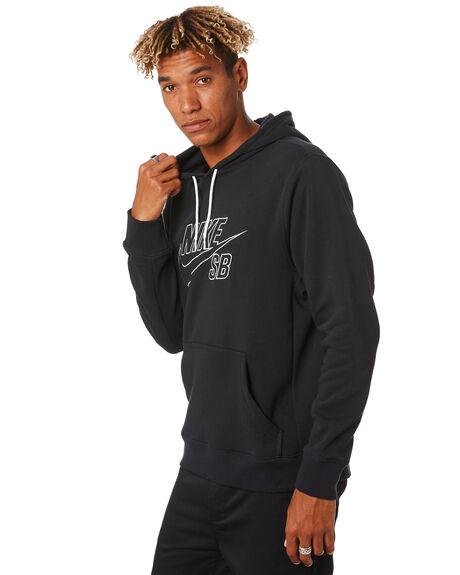 BLACK WHITE MENS CLOTHING NIKE JUMPERS - CI5844010