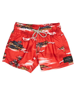 RED KIDS BOYS RIP CURL BOARDSHORTS - OBORC10040