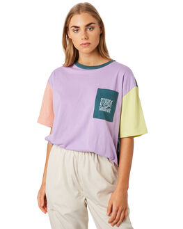 LAVENDER WOMENS CLOTHING STUSSY TEES - ST192115LAV