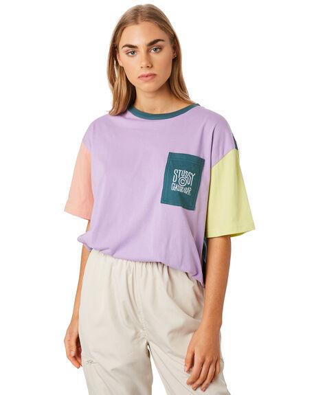 LAVENDER WOMENS CLOTHING STUSSY TEES - ST192115LAV