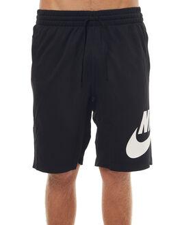 BLACK WHITE MENS CLOTHING NIKE SHORTS - 829603010