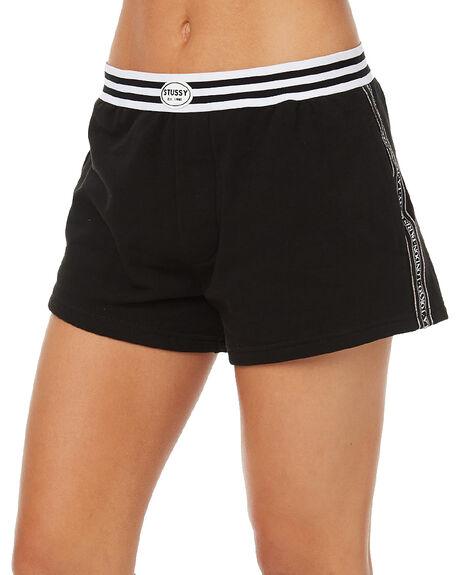 BLACK WOMENS CLOTHING STUSSY SHORTS - ST163602BLK