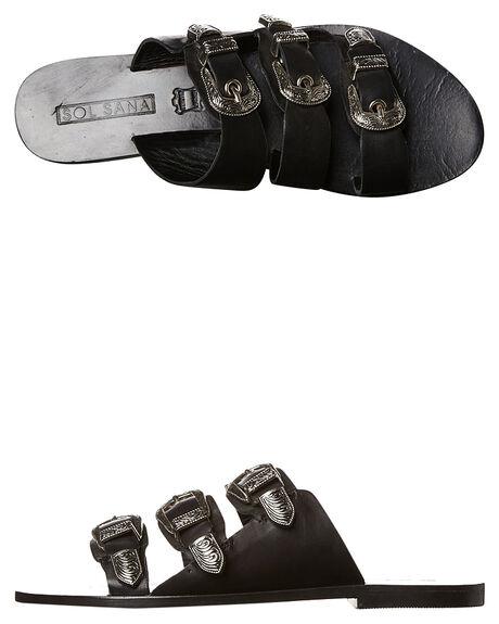 BLACK WOMENS FOOTWEAR SOL SANA FASHION SANDALS - SS161S432BLK