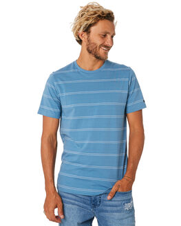 MID BLUE MENS CLOTHING RIP CURL TEES - CTESA28962