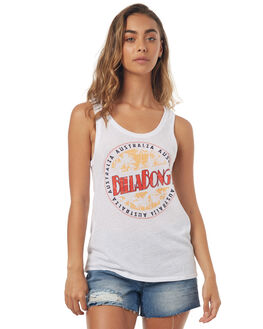 WHITE WOMENS CLOTHING BILLABONG SINGLETS - 6571189WHT