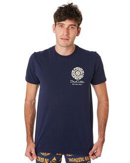 DENIM BLUE MENS CLOTHING DEUS EX MACHINA TEES - DMF91098BDNMBL