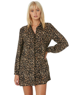 ANIMAL PRINT WOMENS CLOTHING VOLCOM DRESSES - B1331909ANM
