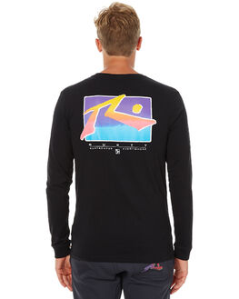 BLACK MENS CLOTHING RUSTY TEES - TTM1841BLK