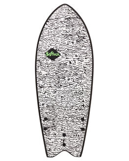 BLACK WHITE BOARDSPORTS SURF SOFTECH SOFTBOARDS - KYSII-WHT-048BLKWH
