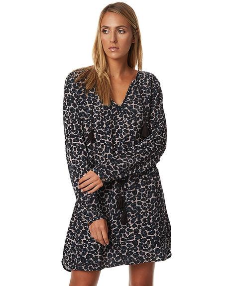LEOPARD WOMENS CLOTHING TIGERLILY DRESSES - T375420LEO