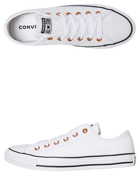 WHITE WOMENS FOOTWEAR CONVERSE SNEAKERS - SS161262CWHTW
