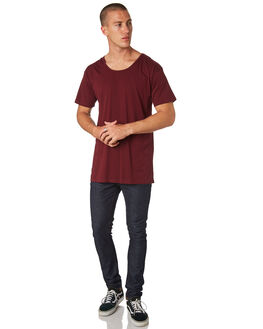 BURGUNDY MENS CLOTHING AS COLOUR TEES - 5011BURG