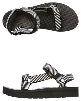 CANDY STRIPE WOMENS FOOTWEAR TEVA FASHION SANDALS - T1090969CSBK