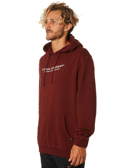 BLOOD RED MENS CLOTHING THRILLS JUMPERS - TA9-215HBLDRD