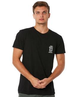 BLACK MENS CLOTHING RHYTHM TEES - JUL18M-PT11BLK