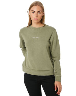 ARMY GREEN WOMENS CLOTHING THRILLS JUMPERS - WTA20-220AAGRN
